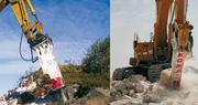 Гидромолота КОМАК для экскаваторов массой от 1 до 50 тонн