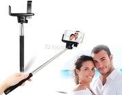 Выдвижной телескопический selfie монопод c bluetooth кнопкой на ручке