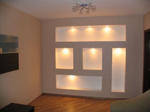 Комбинированные потолки: гипсокартон и натяжной. варианты ...   372x496