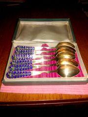 Продам ложки времен СССР серебро в позолоте