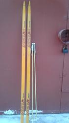 продам новые  пластиковые беговые лыжи с палками  про-во Россия